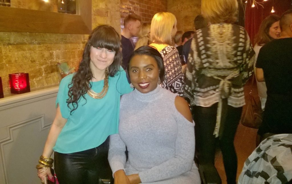 Louise Golbey and I after her performance